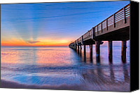Florida Bridge Canvas Prints - Into The Blue Canvas Print by Debra and Dave Vanderlaan