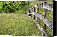 Barbed Wire Fences Photo Canvas Prints - Into the Distance  Canvas Print by JC Findley