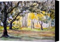 Orton Plantation Mixed Media Canvas Prints - Into the Grove Canvas Print by Nancy Brennand
