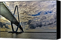 Lowcountry Canvas Prints - Into the Storm Canvas Print by Drew Castelhano