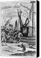 Colonial Man Canvas Prints - Intolerable Acts, 1774 Canvas Print by Granger