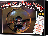 1950s Poster Art Canvas Prints - Invaders From Mars, Poster, 1953 Canvas Print by Everett