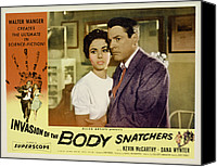 Films By Don Siegel Canvas Prints - Invasion Of The Body Snatchers Canvas Print by Everett
