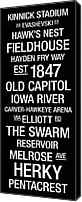Team Canvas Prints - Iowa College Town Wall Art Canvas Print by Replay Photos