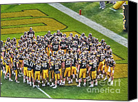 Team Canvas Prints - Iowa Hawkeyes Canvas Print by David Bearden