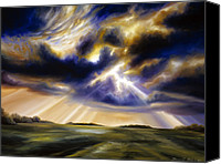 Rays Painting Canvas Prints - Iowa Storms Canvas Print by James Christopher Hill