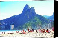 Dois Irmaos Canvas Prints - Ipanema Beach - Brazil Canvas Print by Flavia Lundgren