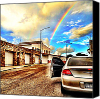 Featured Canvas Prints - #iphone # Rainbow Canvas Print by Estefania Leon