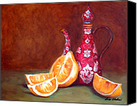 Old Master Painting Canvas Prints - Iranian Lemons Canvas Print by Enzie Shahmiri