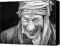 Elderly Canvas Prints - Iranian Man Canvas Print by Enzie Shahmiri