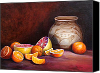Old Master Painting Canvas Prints - Iranian Still Life Canvas Print by Enzie Shahmiri