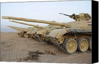 Operation Iraqi Freedom Canvas Prints - Iraqi T-72 Tanks From Iraqi Army Canvas Print by Stocktrek Images
