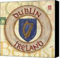 Irish Canvas Prints - Ireland Coat of Arms Canvas Print by Debbie DeWitt
