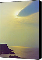 First Star Art By Jrr Canvas Prints - Ireland Giants Causeway Ethereal Light Canvas Print by First Star Art