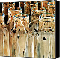 Beige Colours Canvas Prints - Iridescent bottle Parade Canvas Print by Heiko Koehrer-Wagner