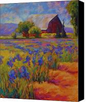 Vineyard Canvas Prints - Iris Field Canvas Print by Marion Rose