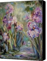 Mary Wolf Canvas Prints - Iris Garden Canvas Print by Mary Wolf
