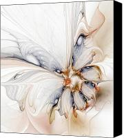 Flowers Digital Art Canvas Prints - Iris Canvas Print by Amanda Moore