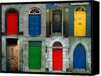 Irish Canvas Prints - Irish Doors Canvas Print by Joe Bonita