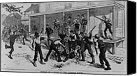 Oppression Canvas Prints - Irish Laborers Killing An African Canvas Print by Everett
