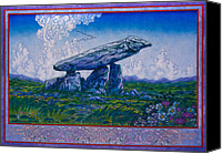 Jim Fitzpatrick Canvas Prints - Irish Landscape Celtic Art - The Kilclooney Dolmen Canvas Print by Jim FitzPatrick