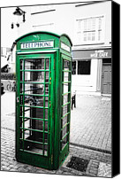 European Union Canvas Prints - Irish Phone Booth in  Kinsale Canvas Print by George Oze