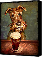 Terrier Canvas Prints - Irish Stout Canvas Print by Sean ODaniels