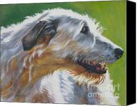 Irish Canvas Prints - Irish Wolfhound Beauty Canvas Print by L A Shepard