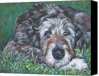 Original Canvas Prints - Irish wolfhound Canvas Print by Lee Ann Shepard