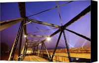 Architect Canvas Prints - Iron Bridge  Canvas Print by Setsiri Silapasuwanchai
