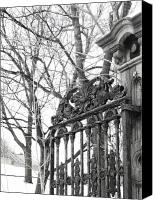 Ironworks Canvas Prints - Iron Gate Canvas Print by Reb Frost