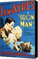 Harlow Canvas Prints - Iron Man, Lew Ayres, Jean Harlow, 1931 Canvas Print by Everett