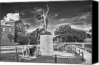 Charge Canvas Prints - Iron Mke Statue - Parris Island Canvas Print by Scott Hansen
