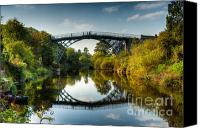 Riverside Canvas Prints - Ironbridge Canvas Print by Adrian Evans