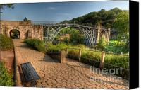 Riverside Canvas Prints - Ironbridge England Canvas Print by Adrian Evans