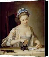 Job Painting Canvas Prints - Ironing Canvas Print by Henry Robert Morland