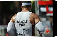 Ironman Canvas Prints - Ironman Muscle Milk Canvas Print by Bob Christopher