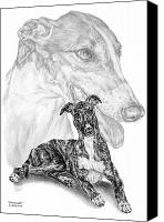 Hound Drawings Canvas Prints - Irresistible - Greyhound Dog Print Canvas Print by Kelli Swan