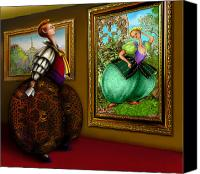 Fantasy Drawings Canvas Prints - Is it art Canvas Print by Suzanne Brind Amour
