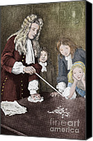 Isaac Canvas Prints - Isaac Newton, English Polymath Canvas Print by Science Source