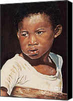 People Pastels Canvas Prints - Island Boy Canvas Print by John Clark