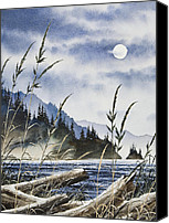 Landscape Framed Print Image Canvas Prints - Island Moon Canvas Print by James Williamson