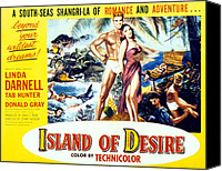 1950s Movies Canvas Prints - Island Of Desire, From Left Tab Hunter Canvas Print by Everett