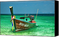 Thai Canvas Prints - Island Taxi  Canvas Print by Adrian Evans