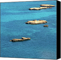 Ocean Photography Canvas Prints - Islets Islands Canvas Print by Judy Dunlop