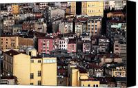 Yellow Building Canvas Prints - Istanbul Cityscape VII Canvas Print by John Rizzuto