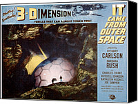1953 Movies Canvas Prints - It Came From Outer Space, 1953 Canvas Print by Everett