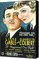 Gable Canvas Prints - It Happened One Night Canvas Print by Nomad Art and  Design