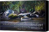 Rachel Carson Canvas Prints - It is a Wholesome....... Canvas Print by Karen Lewis