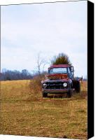 Old Trucks Photo Canvas Prints - It Is Over Now Canvas Print by Jan Amiss Photography